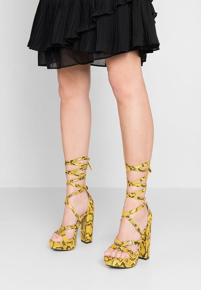 STELLA - High Heel Sandalette - mustard
