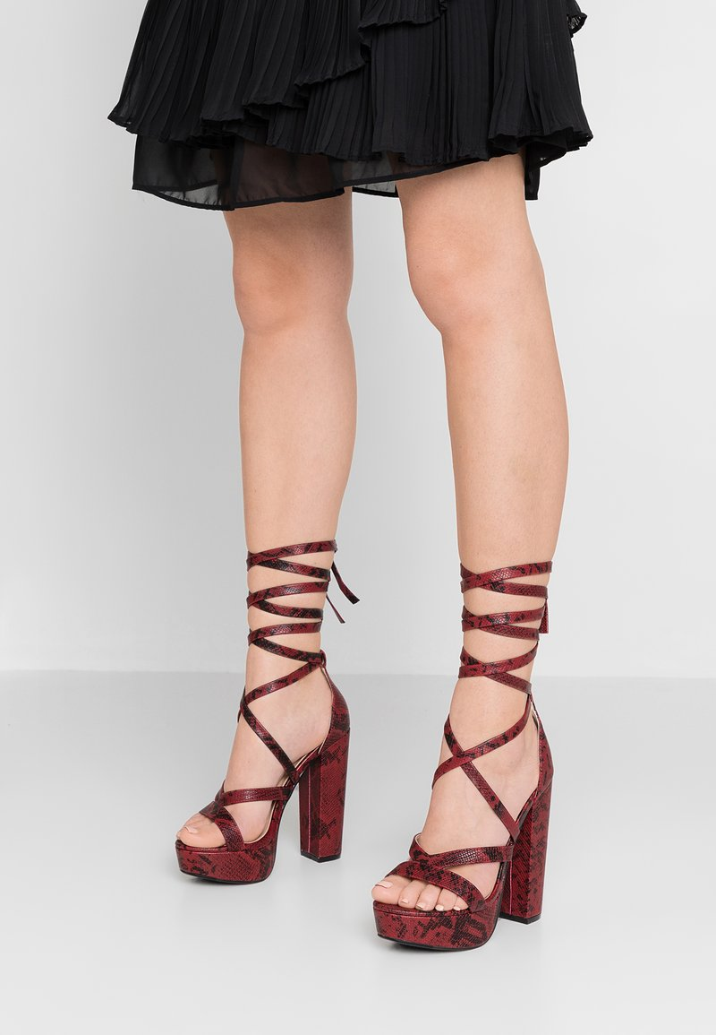 Public Desire - STELLA - High Heel Sandalette - burgundy