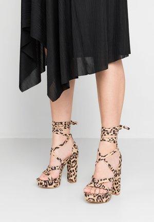 STELLA - High heeled sandals - brown