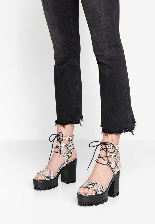 HAILEY - High heeled sandals - natural