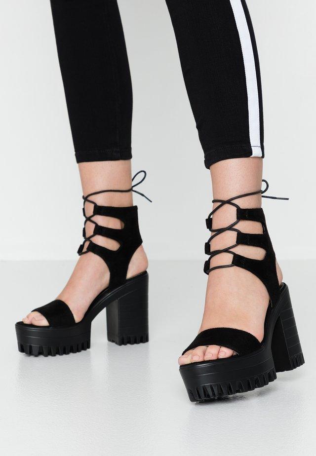 HAILEY - Sandály na vysokém podpatku - black
