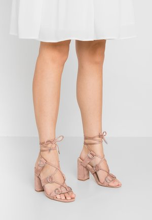 HOOKED - Sandaler med høye hæler - blush nude