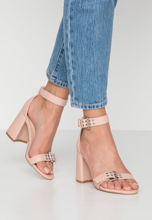 THUNDER - High heeled sandals - blush/nude