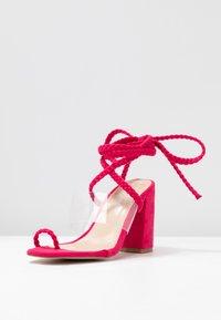 Public Desire - MIA - Sandalen met hoge hak - fuchsia - 4