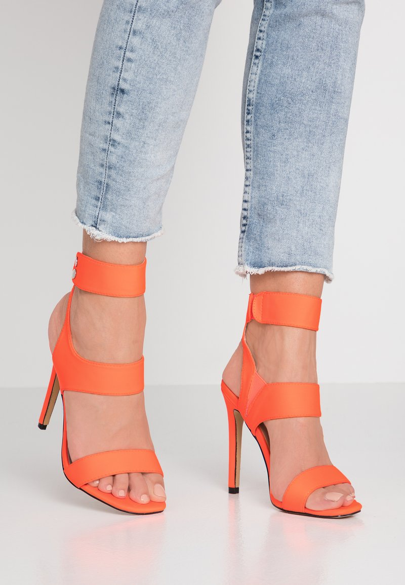Public Desire - PULSE - High heeled sandals - neon orange