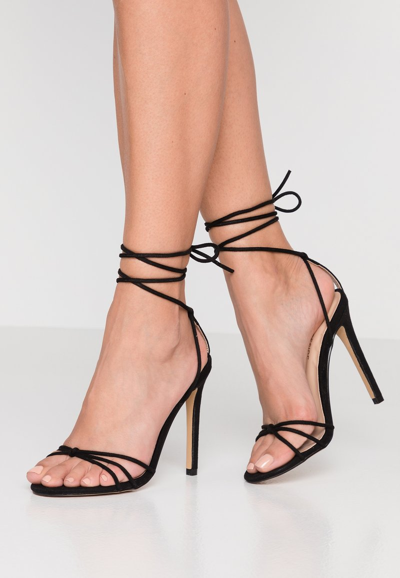Public Desire - FLEUR - Sandalen met hoge hak - black