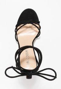 Public Desire - FLEUR - Sandales à talons hauts - black - 3