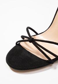 Public Desire - FLEUR - Sandales à talons hauts - black - 2