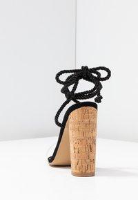 Public Desire - SUMMER - Sandales à talons hauts - black - 5