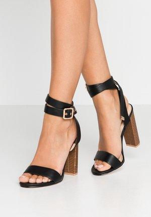 BREA - Sandály na vysokém podpatku - black
