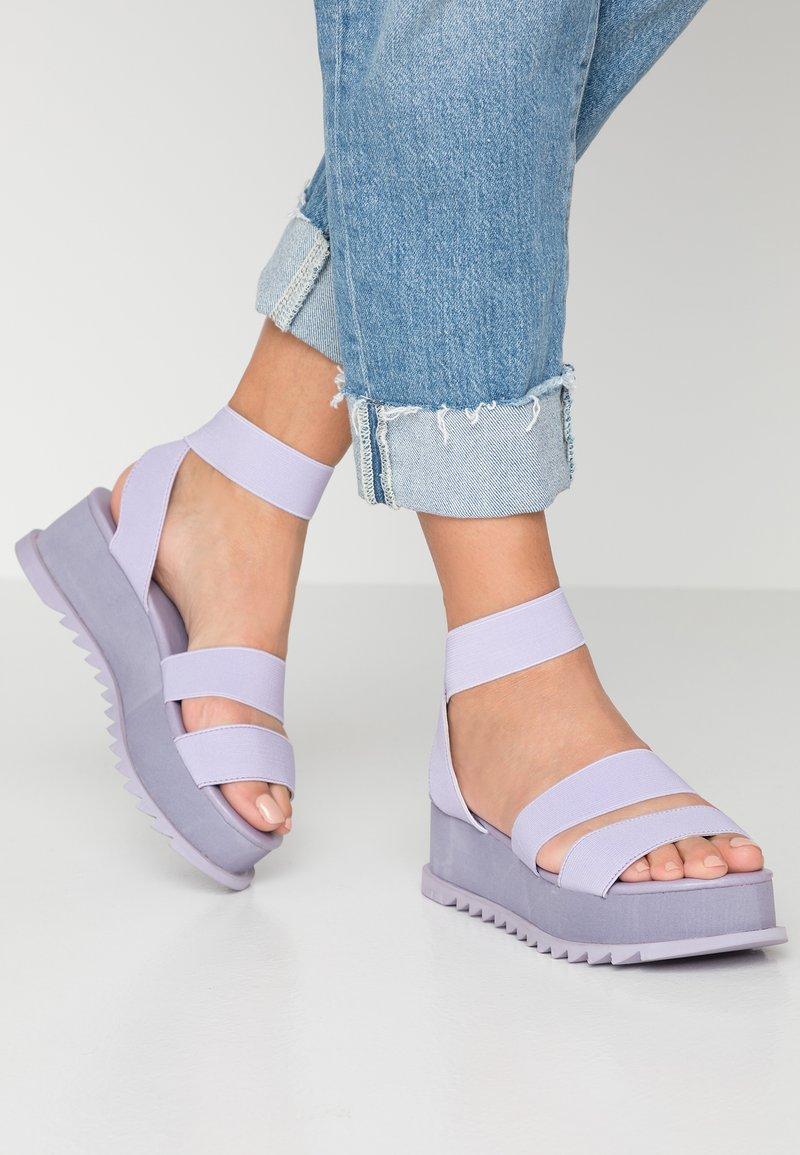 Public Desire - CASSIE - Platform sandals - lilac
