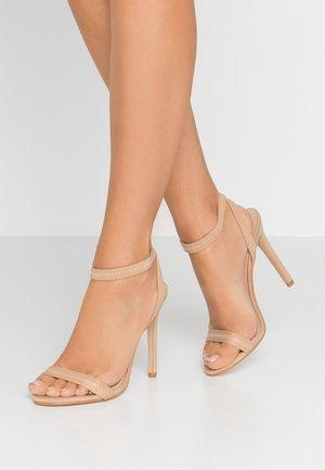 ABYSS - Sandaler med høye hæler - nude