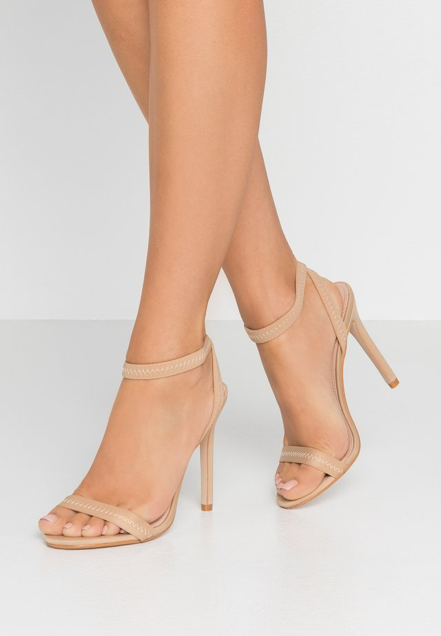 ABYSS - High heeled sandals - nude
