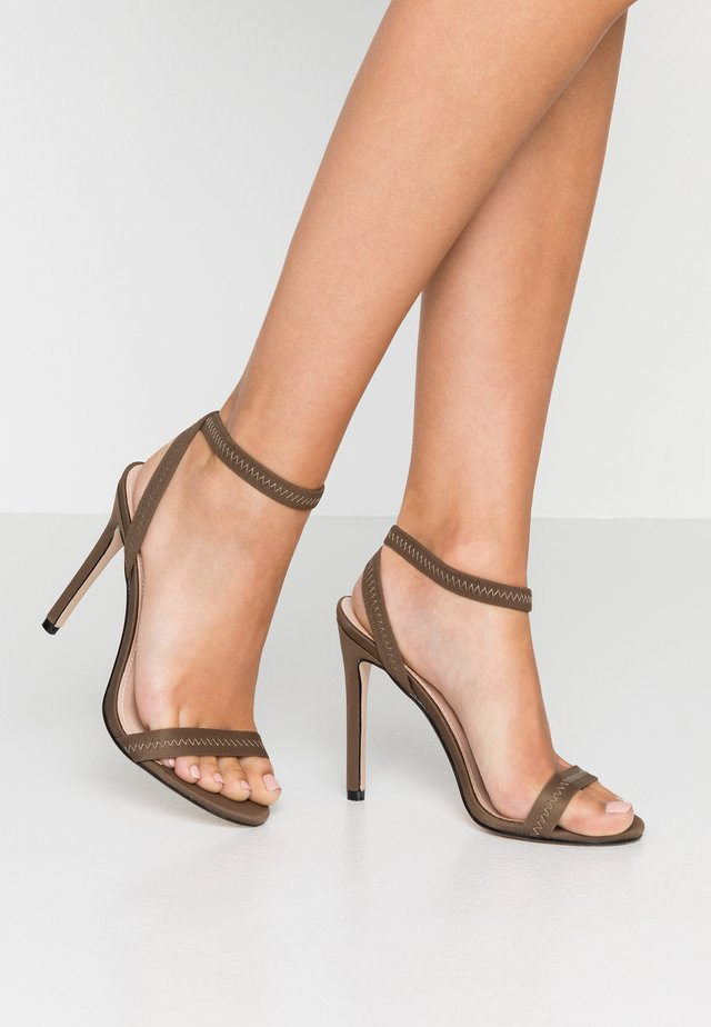 ABYSS - High heeled sandals - khaki