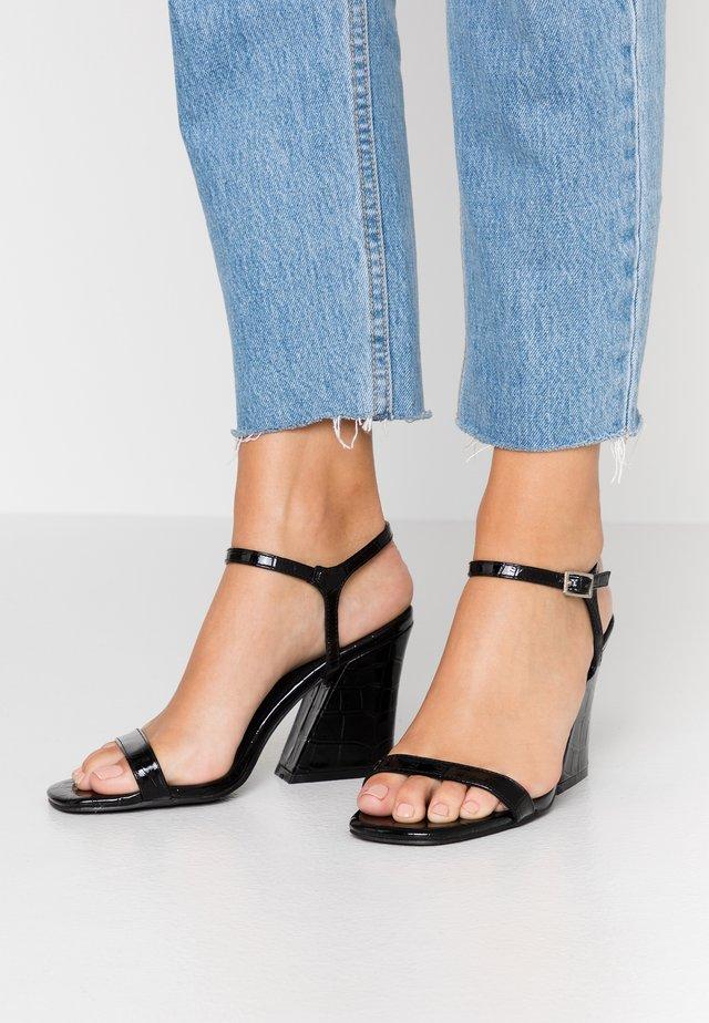 BONUS - Højhælede sandaletter / Højhælede sandaler - black