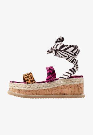 FRESCA - Sandały na platformie - multicolor