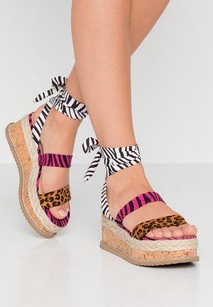 FRESCA - Korkeakorkoiset sandaalit - multicolor