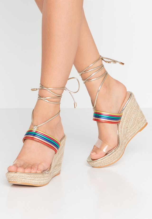 GALA - High heeled sandals - multicolor