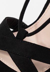 Public Desire - MONTANA - Korolliset sandaalit - black - 2
