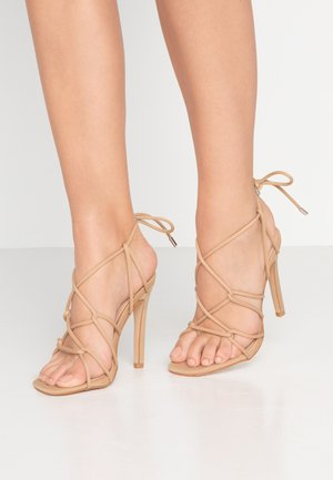 SAVY - High heeled sandals - nude