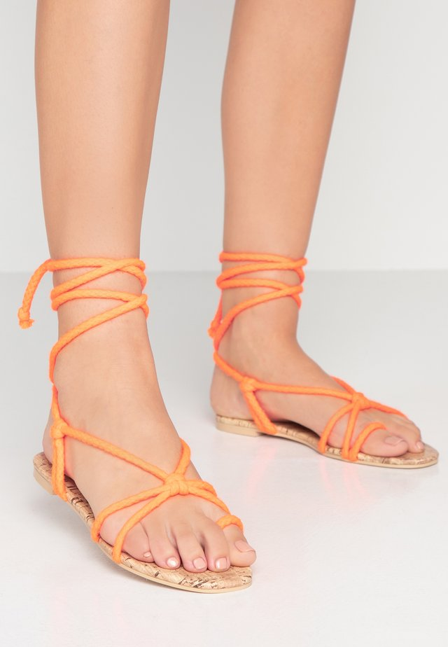 MOJITO - T-bar sandals - orange