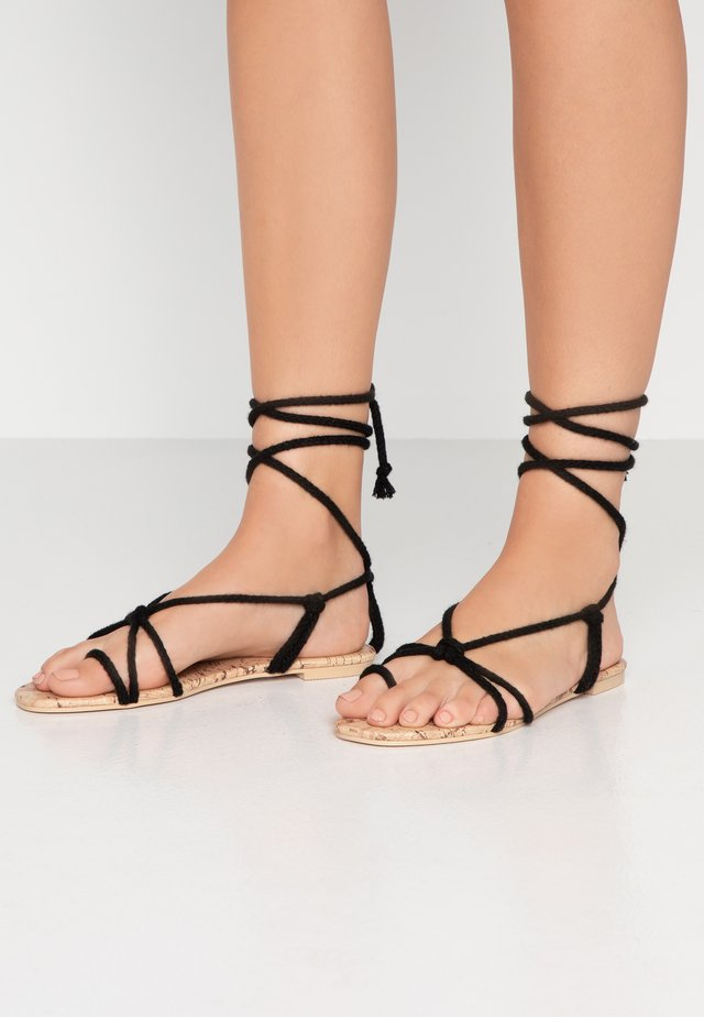 MOJITO - T-bar sandals - black