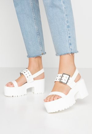 GRIPPIN - Platform sandals - white