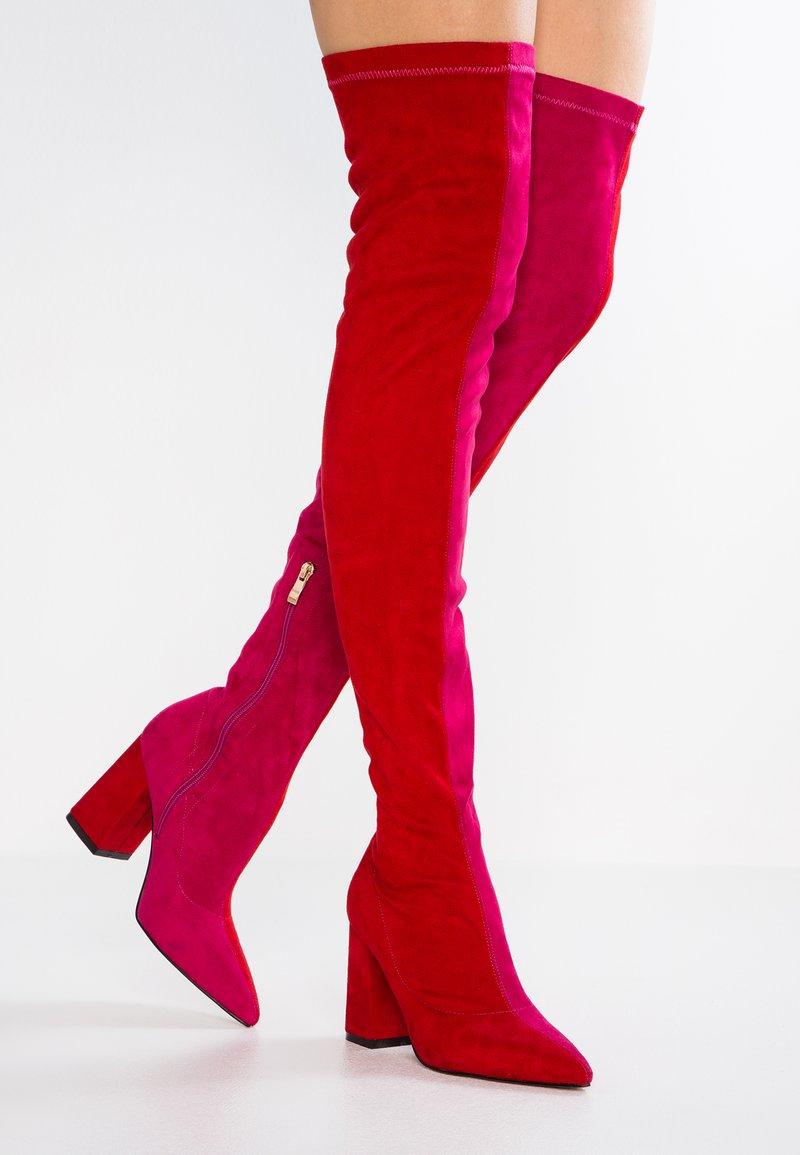 ChaoticBottes Public Desire Talons À pink Red Hauts GUMpqSzV