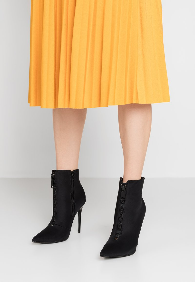 Public Desire - TECHNO - High heeled ankle boots - black