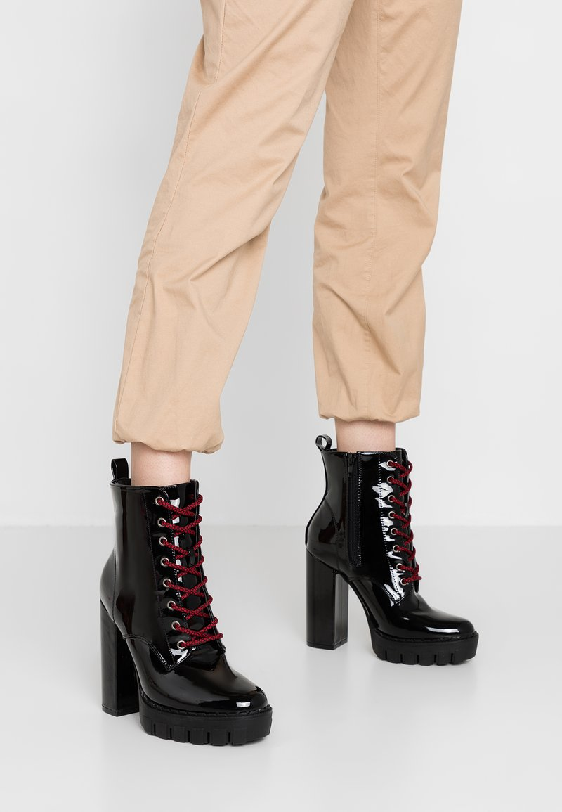 Public Desire - ANEMONE - High heeled ankle boots - black