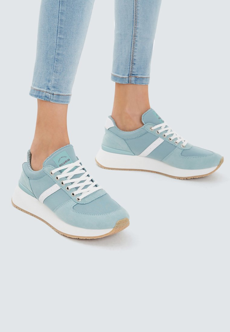 PULL&BEAR - Sneakers - turquoise