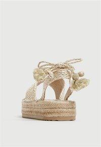 PULL&BEAR - Sandály na platformě - beige - 3