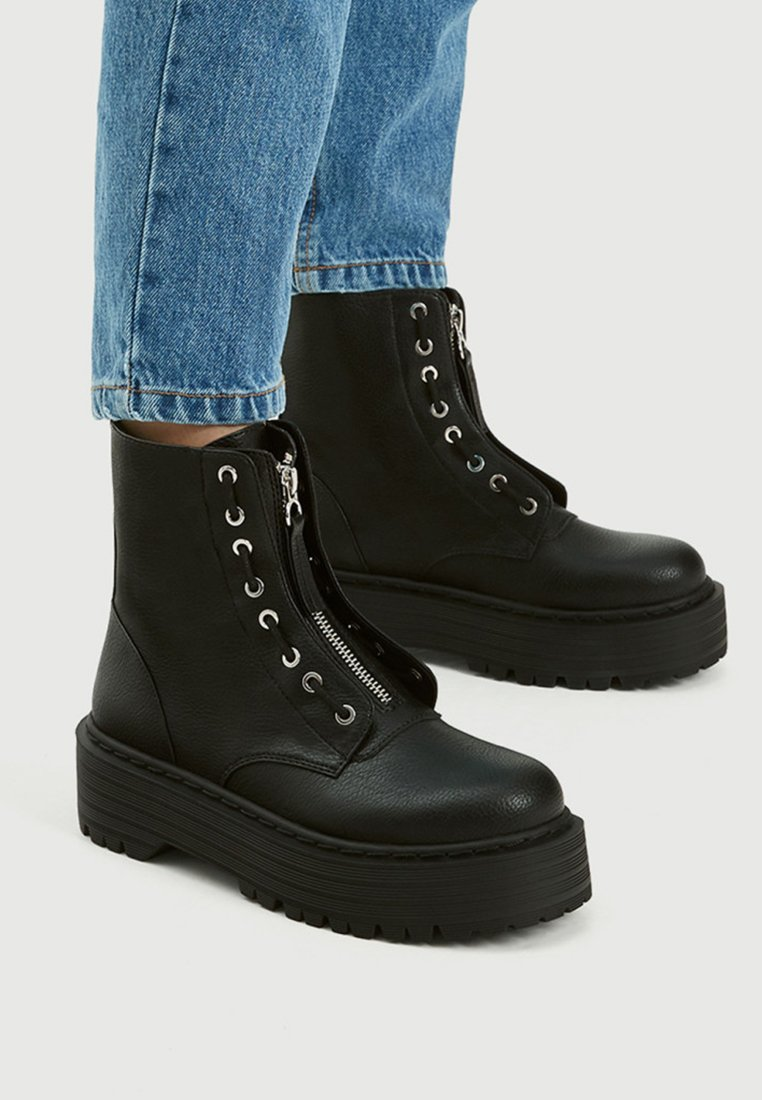 PULL&BEAR - Bottines - black