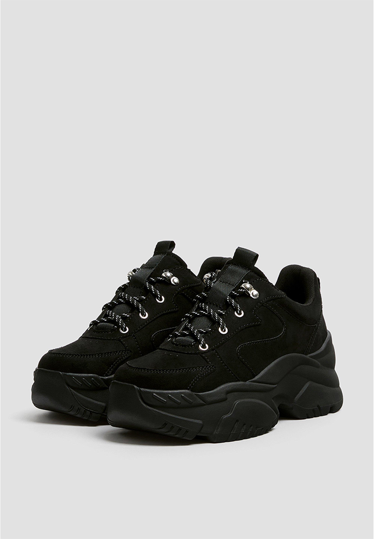 Pull&bear Schwarze Sneaker Mit Blockabsatz 11204540 - Sneakers Hoog Black