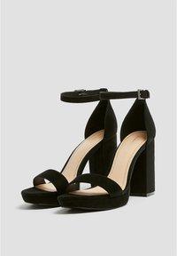 PULL&BEAR - High Heel Sandalette - black - 3