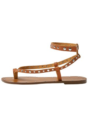 MIT NIETEN - T-bar sandals - brown