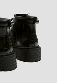 PULL&BEAR - Platform ankle boots - black - 8