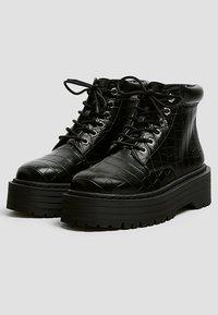 PULL&BEAR - Platform ankle boots - black - 6
