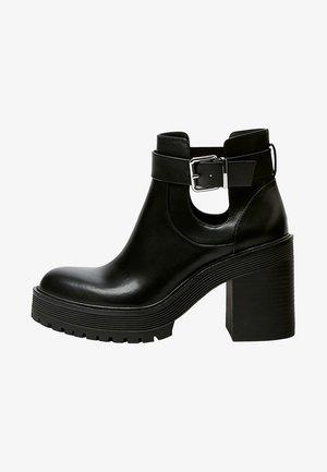 MIT LOCHMUSTER - Kotníková obuv na vysokém podpatku - black