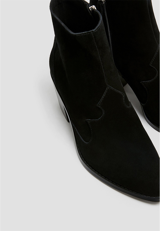 Pull&bear Lederstiefeletten Im Cowboylook 11062540 - Santiags Black