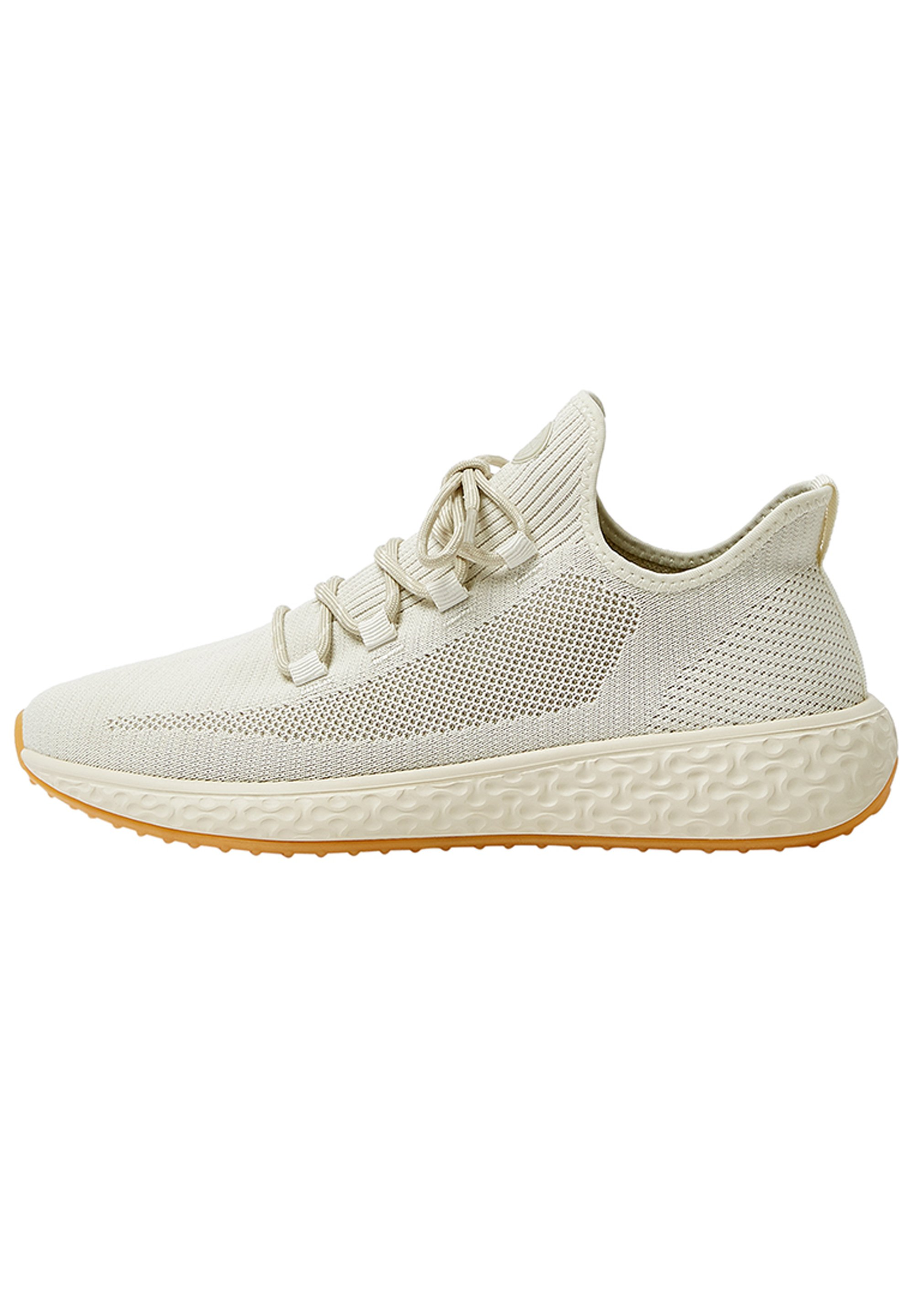 PULL&BEAR SNEAKER IM REGULAR-FIT IN STRICKOPTIK 12320540 - Sneakersy niskie - beige