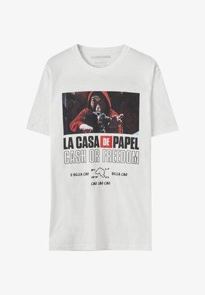 LA CASA DE PAPEL - Triko spotiskem - white