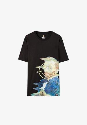 SMILEY - Print T-shirt - black