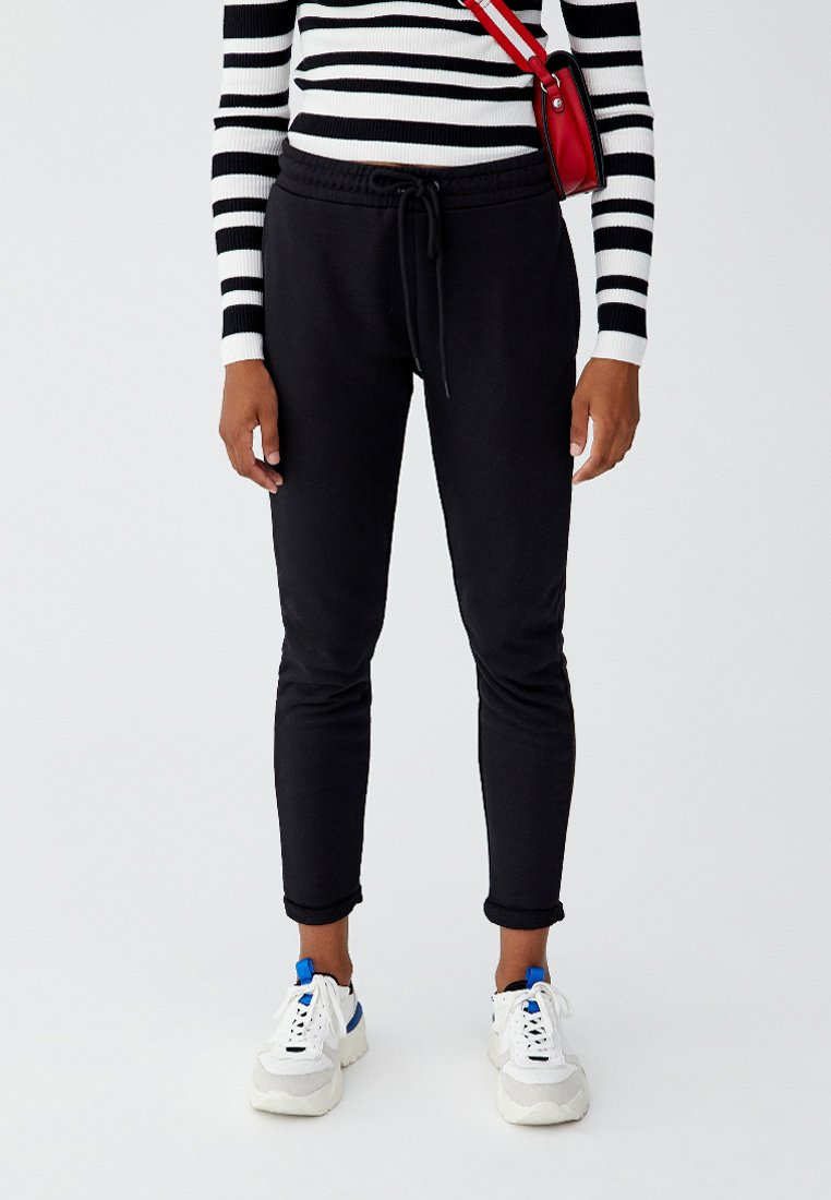 PULL&BEAR - Pantalon de survêtement - black