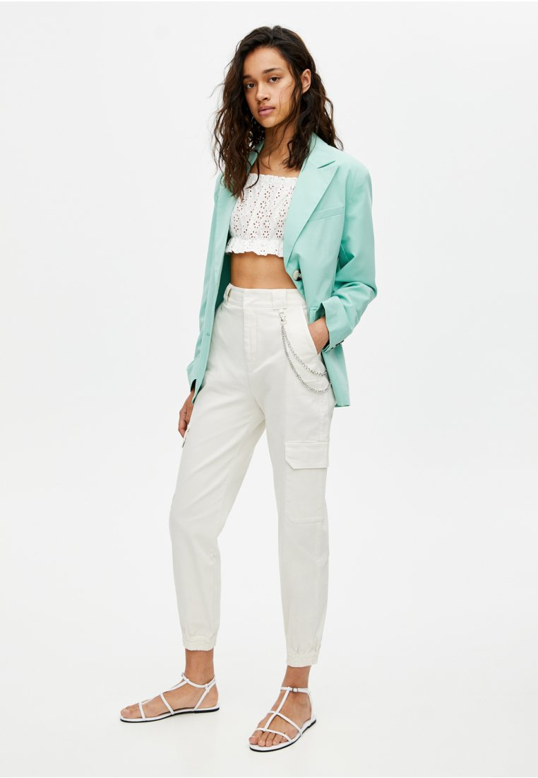 PULL&BEAR - Trousers - white