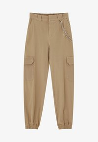 PULL&BEAR - CARGO - Trousers - sand - 5