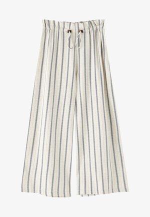 MIT SENFFARBENEM - Pantalon classique - white