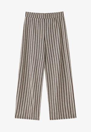 MIT STREIFENPRINT  - Pantalon classique - black