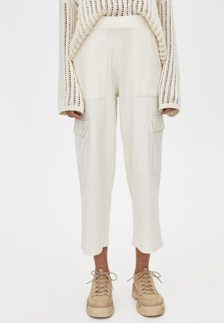 PULL&BEAR - CARGO - Pantalon cargo - white