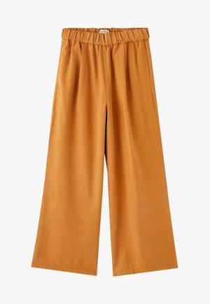 MIT WEITEM SAUM - Pantalon classique - camel
